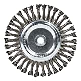Mercer Industries 184020 Knot Wire Wheel, 8' x 5/8' x (1/2', 5/8'), For Bench/Pedestal Grinders