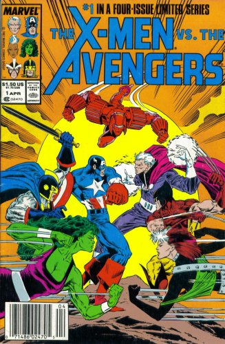 The X-Men Vs. The Avengers #1: Justice For All (Marvel Comic Book 1987)