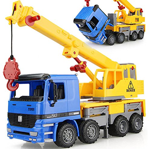 Liberty Imports 15 inches Oversized Friction Crane Truck Construction Vehicle Toy for Kids