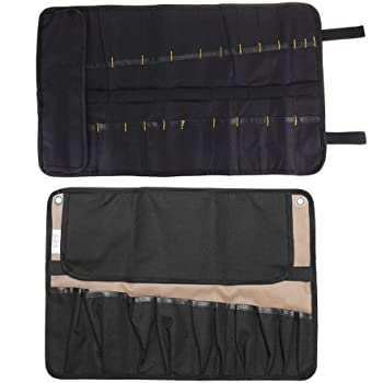 Estuche para cuchillos, bolsa de maquillaje profesional para chef, bolsa de almacenamiento portátil para utensilios de cocina, negro: Amazon.es: Bricolaje y herramientas