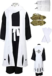 US Size Death Bleach Kuchiki Byakuya Cosplay Costume Halloween Full Set Clothing