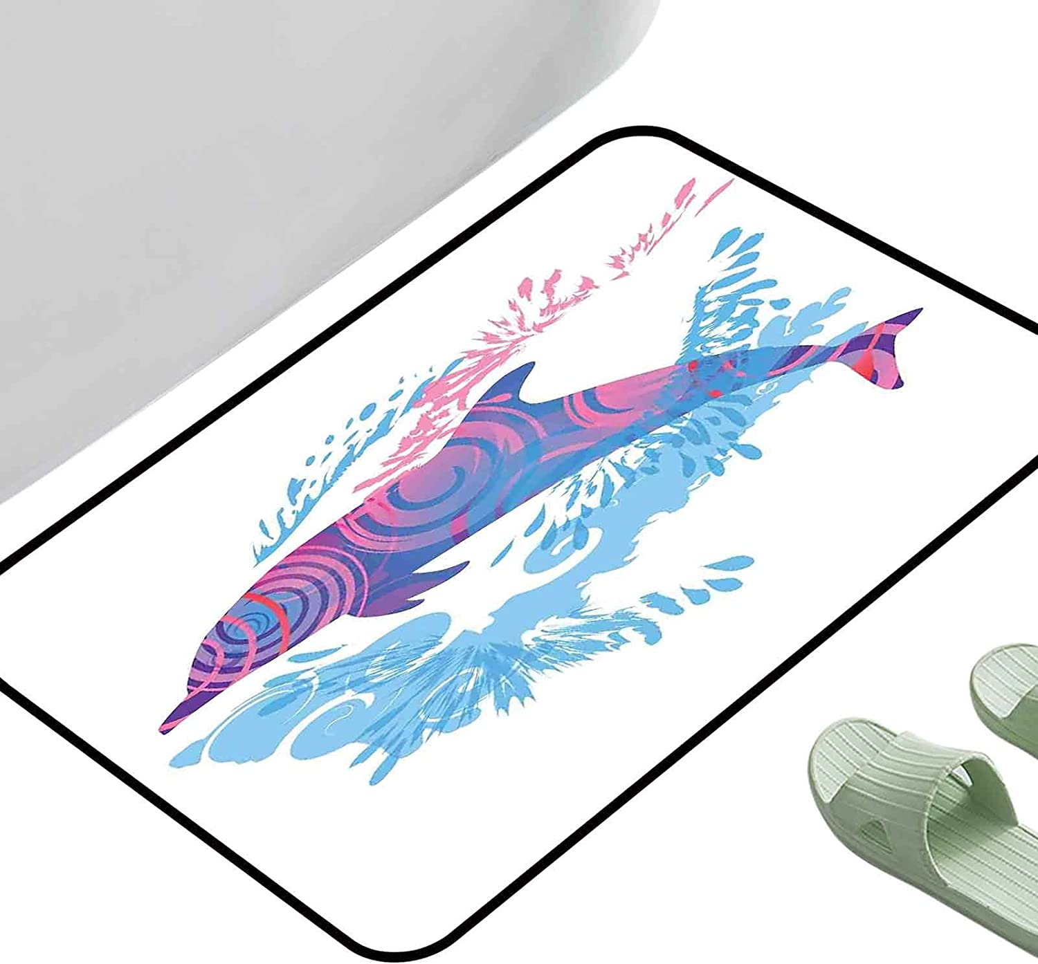 Max New Free Shipping 60% OFF Home Decoration Door Mat Sea with Colorfu Animals Figure Dolphin