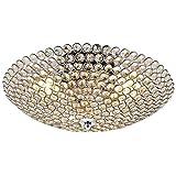 [lux.pro] Lampada da soffitto in cristallo artificiale- Vapora - (3 attacchi E14)(16 cm x Ø 4 cm) Plafoniera Attacco a morsetto