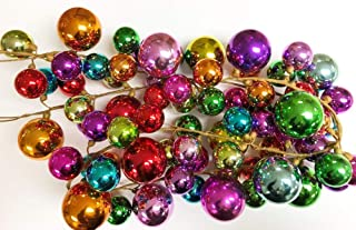 HAPPY DEALS ~ Multicolored Ornament Ball Garland, 6 Feet shatterproof