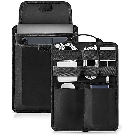 """tomtoc Sac Organisateur Electronique d'accessoires pour Power Bank/Chargeur/Câble USB, Housse pour 12,3"""" Surface Pro, MacBook Air 13 M1/A2337 A1932 Touch ID, MacBook Pro 13 M1/A2338 A2251 USB-C"""