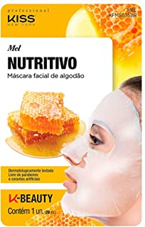 Kiss NY Professional Máscara Facial de Algodão  - Mel, Kiss New York Professional