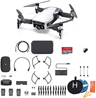 DJI Mavic Air Fly More Combo Plus Starter Kit Bundle Arctic White (Renewed)