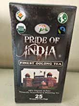 Pride Of India - Organic Digestive Oolong Tea - 25 Count, 6-Pack (150 Tea Bags @ $0.16 per Bag) - Direct from Source, Grown in Himalayas, Antioxidant Rich, Excellent Flavor, Superb Value, Low Caffeine