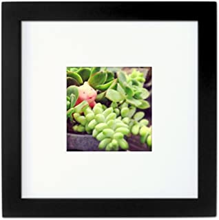 Tiny Mighty Frames - Wood, Square, Instagram, Photo Frame, 4x4 (Mat), 8x8 (1, Black)