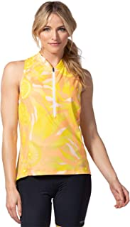 Terry Women's Sun Goddess Sleeveless Semi-Fitted Moisture Wicking Cycling Jersey for Cyclists and Outdoor Enthusiasts