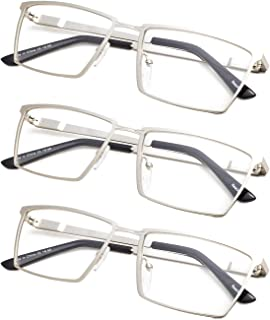 3-Pack Reading Glasses with Spring Hinges for Men