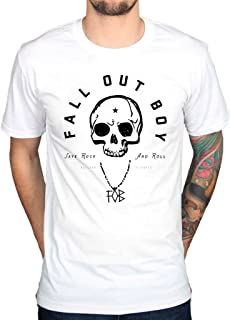 Men's Official Fall Out Boy Skull T-Shirt Vintage Chicago Illinois Save Rock And Roll