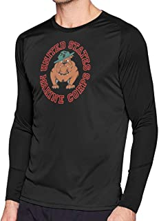 Marine Corps Bulldog USMC Logo Man Handsome Long Sleeve T-Shirt Classical Tshirt Helpshirt