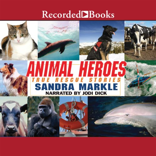 Animal Heroes audiobook cover art