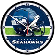"""Officially Licensed Product Quality materials used for all Wincraft products Cheer on your team with products from Wincraft and express your pride Made in the USA 12"""" round clock high-quality quartz movement sweeping second hand for accurate timekeep..."""