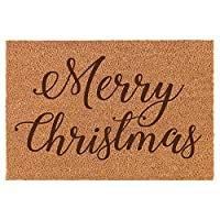Daylor Coir Entry Doormat Door Mat Merry Christmas Script