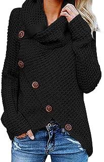 Per donna Maglione Di Grandi Dimensioni Multi Colore Patchwork Maglione Asimmetrico Casual Maglione