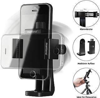 Mantona Rotate Clip 100, obrotowy uniwersalny uchwyt na telefon komórkowy do iPhone i smartfonów o szerokości 55-85 mm, z ...