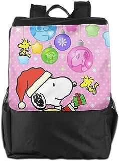 Mochila de viaje Snoopy de Navidad, ligera, de poliéster, bolsa de viaje para hombres y mujeres