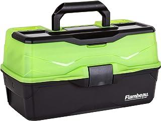 Flambeau Outdoors 6383FG 3-Tray - Classic Tray Tackle Box - Frost Green/Black