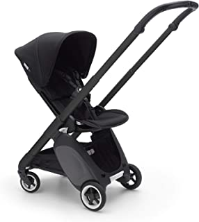 Bugaboo Ant Baby Stroller - Lightweight Stroller - Foldable Stroller - Travel and Compact Storage - Fits in Overhead Compartments - Reversible and Reclinable Travel Stroller (Black)
