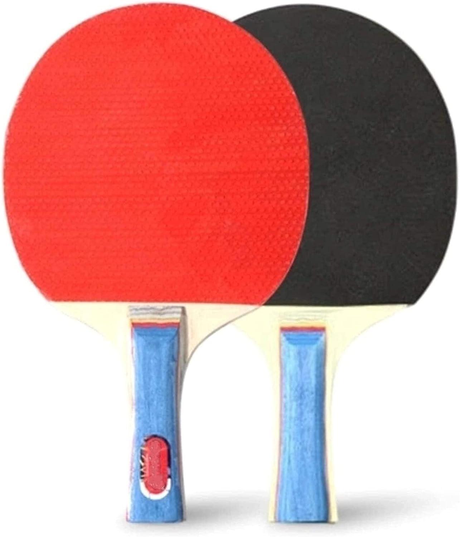 ZFQZKK Murciélagos de Ping Pong Paddles Raquetas de Tenis de Mesa 2 murciélagos de Pong Mango Largo Pong Juego de Raquetas de Entrenamiento Accesorios de Entrenamiento Kit de Paquete de raquetes para
