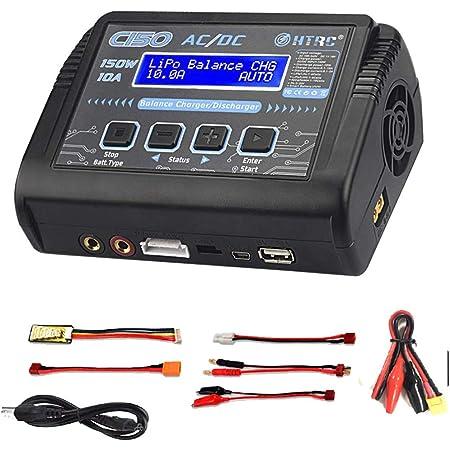 ZHITING Cargador LiPo, descargador de Cargador de Balance de batería 150W 10A AC/DC para Li-Ion/Life/NiCd/NiMH/LiHV/PB/Smart Battery (Adaptador de Cargador de batería)