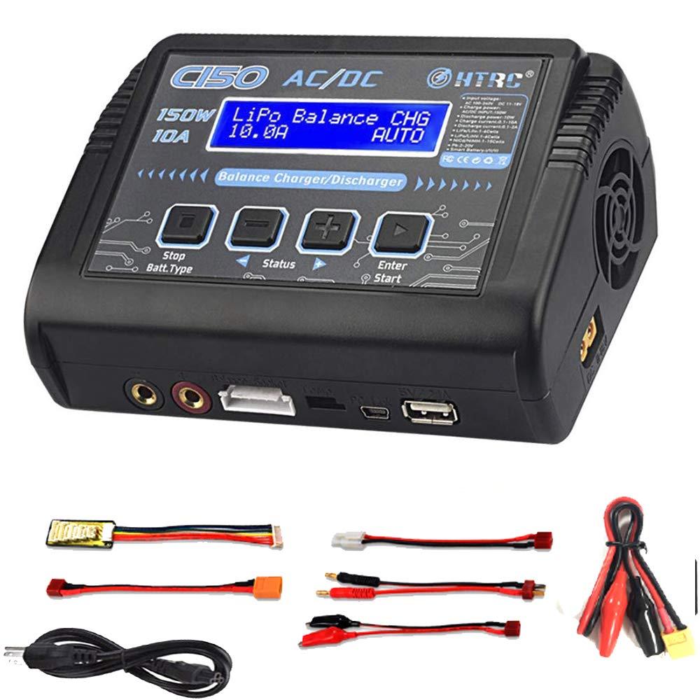 ZHITING Cargador LiPo descargador de Cargador de Balance de bater/ía 150W 10A AC//DC para Li-Ion//Life//NiCd//NiMH//LiHV//PB//Smart Battery Adaptador de Cargador de bater/ía