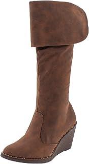 Bota Feminina Cano Alto Camel Piccadilly - 336007