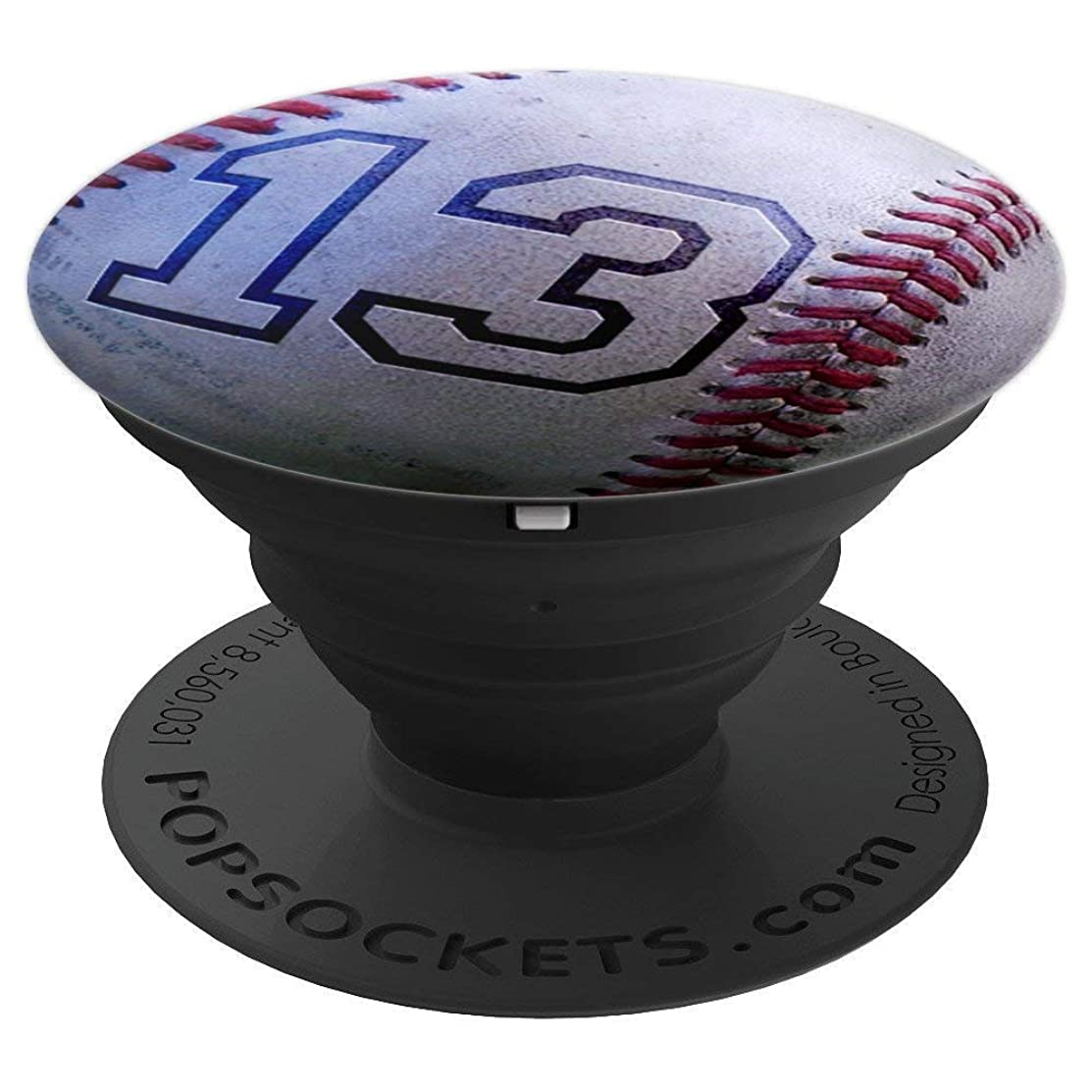 Baseball Number 13  - PopSockets Grip and Stand for Phones and Tablets