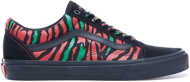 Vans Mens Black Red A Tribe Called Quest Old Skool Sneakers