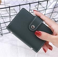 Card Holder CDZXMM Unisex Business Card Holder Ladies Credit Card Case Id Bag Men's Clutch Bag Wallet with Driver's License Slot 11×8CM Green