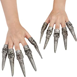 RUIXIB 10 Pcs Scary Halloween Costume Nails Fake Party Cosplay Long Nails Cover Halloween Fingernails Decorations Trick Pr...