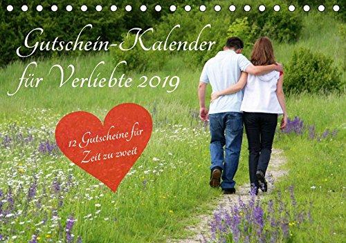 Gutschein-Kalender für Verliebte 2019 (Tischkalender 2019 DIN A5 quer): Überraschen Sie Ihren Partner mit 12 tollen Gutscheinen für mehr Zeit zu zweit! (Monatskalender, 14 Seiten ) (CALVENDO Menschen)