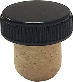 Jelinek Cork 19.5mm Agglomerated Tasting Cork with a Black Plastic Top [Bag of 50]