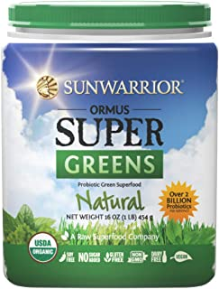 Sunwarrior - Ormus Supergreens, Powerful Vegan Greens with Trace Minerals, Organic, Gluten Free, Non-GMO (16 oz, Natural)