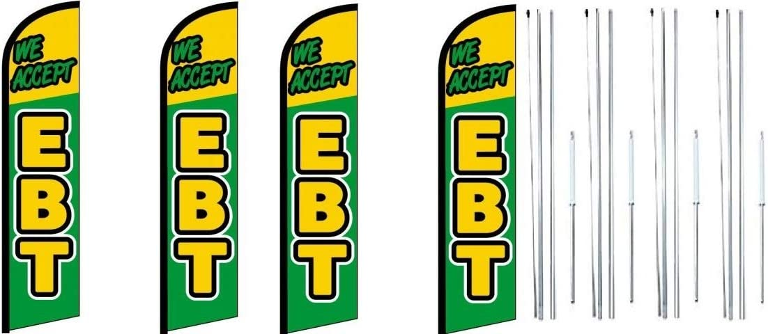 We Accept EBT Cash special price discount King Windless Feather Complete with Flag Sign Kit