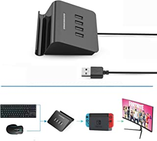 Delta essentials E-sports ゲーミングキーボード&マウス 接続アダプタ PS4/Nintendo Switch 対応 Fortnite フォートナイト 対応