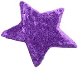 Vosarea Plush Star Shaped Ground Mat Soft Silky Carpet Cushion Tea Table Mat