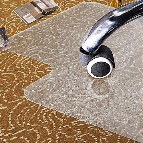 Office Chair Mat for Carpet 36 X 48 Inches, Anti-Skid, Stays in Place, Transparent Home Desk Carpeted Floors Protector Mat