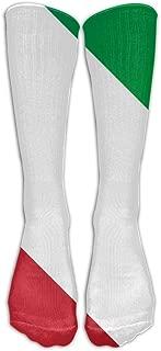 Leisue Italian Flag Fun Over-The-Calf Tube Stockings Socks for Yoga Train Hiking Cycling Running Sports Soccer