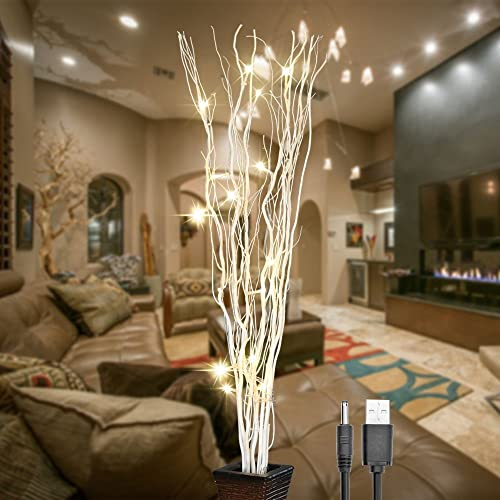 Tree branch lighting Whimsical Lightshare 36inch 16led Natural Willow Twig Lighted Branch For Home Decoration Usb Plugin Amazoncom Tree Branch Lamp Amazoncom