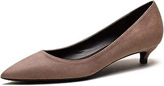 Women's Comfor Classic Slip On Pointed Toe Dress Shoes Low Heel Pump Wedding Shoe