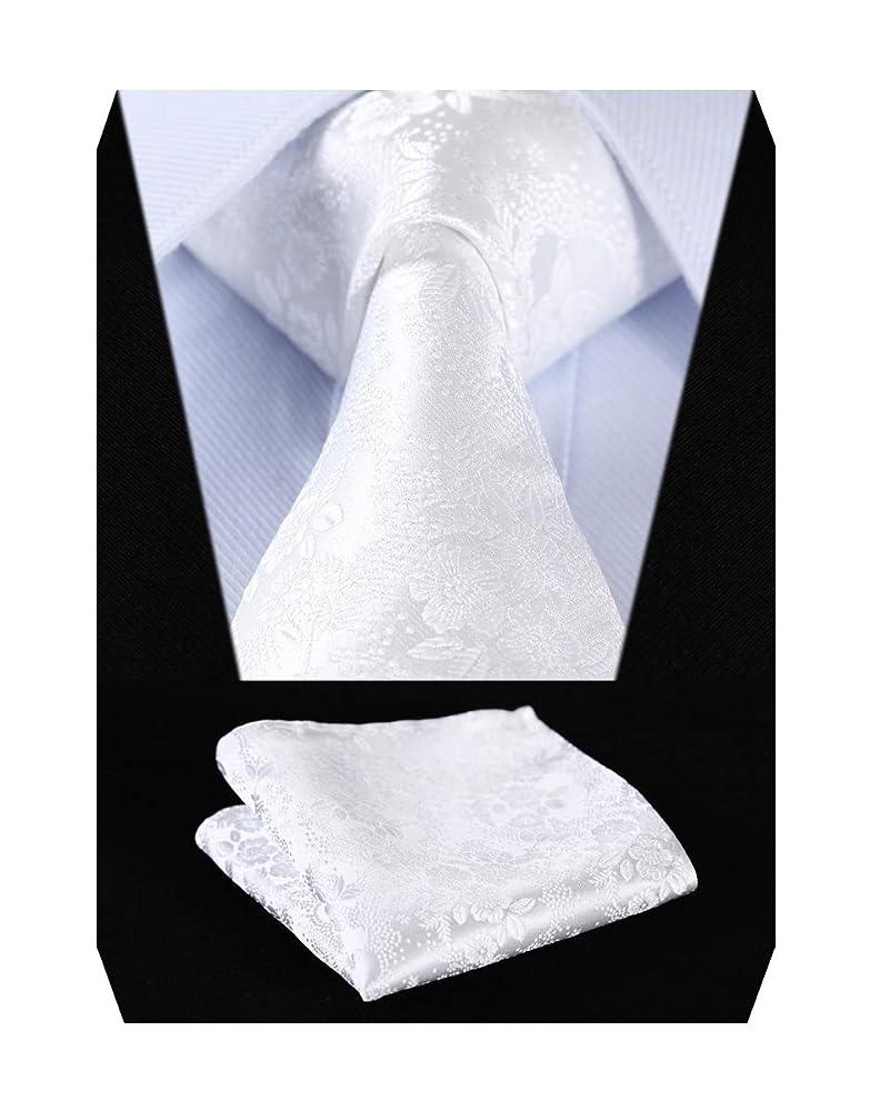 グローブ列挙する突き刺すEnlision 結婚式 ネクタイ ポケットチーフ メンズ ソリッド ネクタイ ペイズリー柄 花柄 フォーマル カジュアル 洗濯可能
