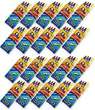 576 Crayons Bulk [144 Sets of 4-Packs] Premium Bulk Crayons for Kids - Party Favors for Kids, Goodie...