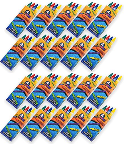 576 Crayons, 144 Packs of 4 Crayons for Kids Bulk Non-Toxic 4 Colors in Each Crayon Box, Premium Crayons, Great Party Favor, Arts and Crafts Supplies for Toddlers, Goodie Bag Filler, By 4E's Novelty