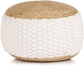 vidaXL Woven/Knitted Pouffe Modern Home Living Room Bedroom Office Foot Rest Stool Seating Seat Ottoman Sitting Furniture ...