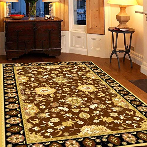 European Style Retro Palace Style Non-Slip Floor Mat Ethnic Style Fashion Sofa Coffee Table Desk Floor Mat Bedroom Living Room Hotel Restaurant Carpet