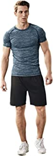 Mens Sports Suits Fitness Training Sportswear Compression Quick Drying Skinny Fit Workout Shirt Suits Gym Clothes