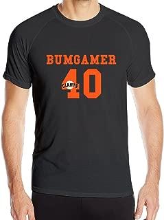 DETED Men's Madison Cool Bumgarner Quick Dry Sport T-shirt Black